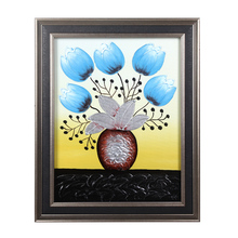 Hot Wholesale double box frame handmade modern flower oil painting