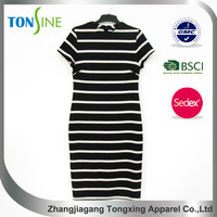 Fashion Close fitting dress with short sleeve