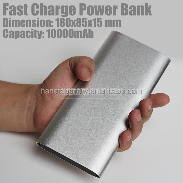 10000mAh Laptop Powerbank Fast Charge Metal Porlymer External Battery Made in China