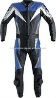 (Supper Deal) Genuine Leather Motor Bike Two Piece Racing Suit