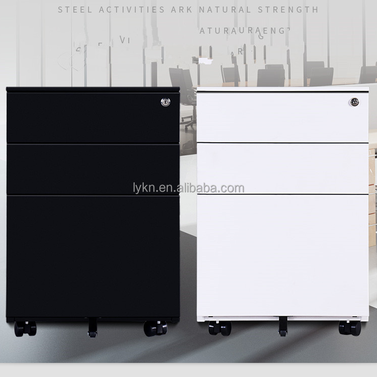 Factory Price 3 Drawer Steel Vertical Mobile File Cabinet