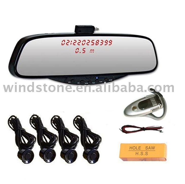 bluetooth handfree car kit, bluetooth rearview car mirror, handsfree kit