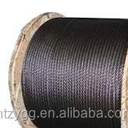 ungalvanized steel cable A2 A3 grade oil coated