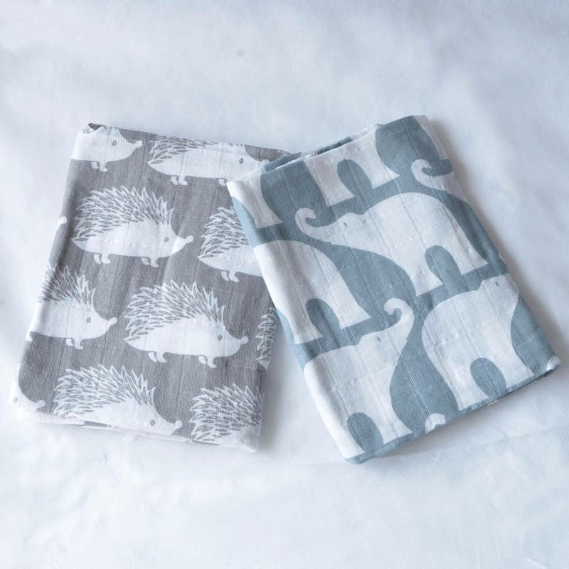 100% Organic Cotton Muslin Swaddle Blanket