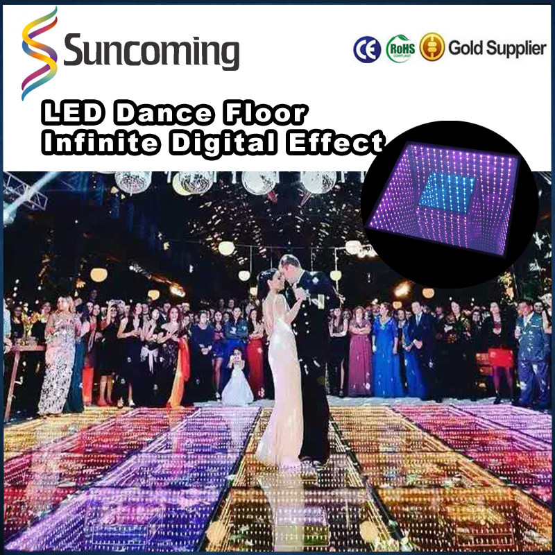 Interactive Infinity Mirror 3D Portable Led Video Light Up Dance Floor