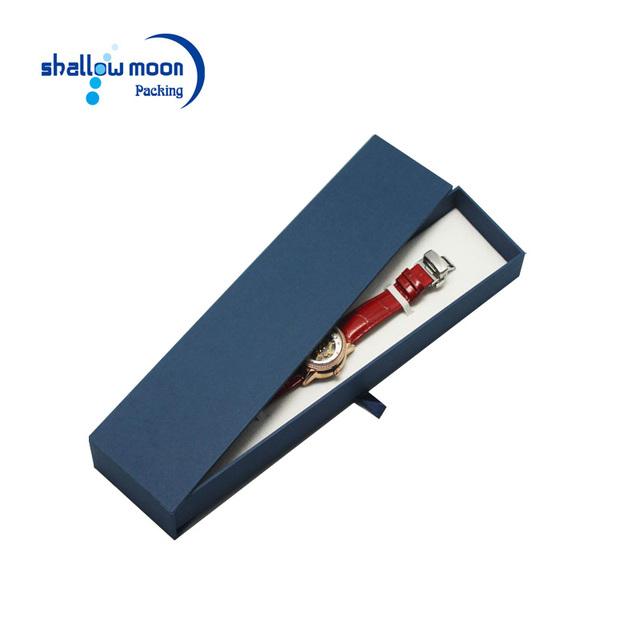 Custom logo matte black paper cardboard jewelry gift boxes wholesale bracelet necklace watch box for men