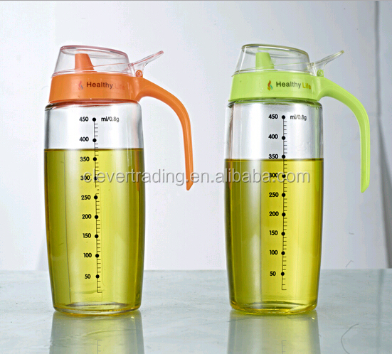 450ml glass oiler/cooking oil dispenser with metric size