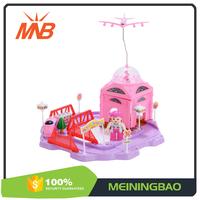 Diy blocks small rail plastic toys kids toy cars race track for sale
