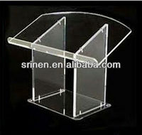 Transparent Desktop Acrylic Speech LecternPulpit with Screws acrylic lecture stand