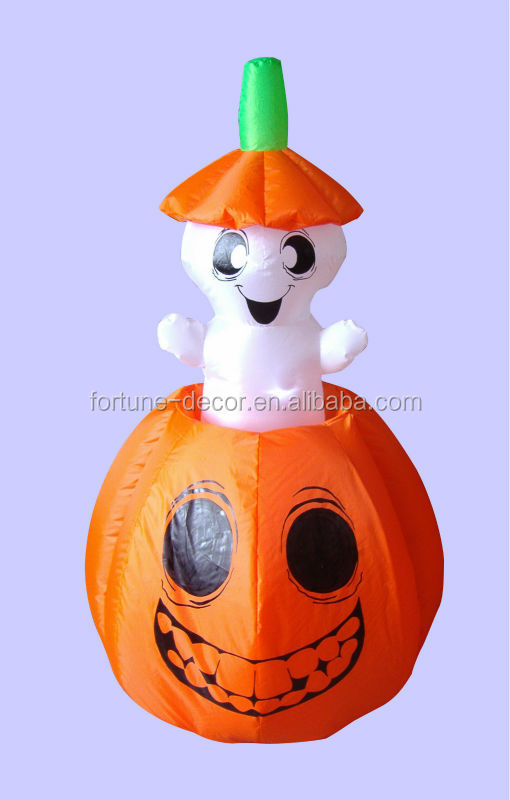 150cm Halloween inflatable pumpkin animated white ghost