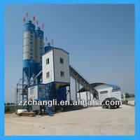 OMRON PLC!!! HZS90 Cement concrete batching plant,Cement mixing station