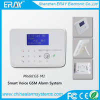 Temperature control Android/IOS APP gsm plus pstn home security alarm system Contact ID relay output