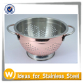 5.0 Quart Copper Electro Plate Stainless Steel Colander with Sturdy Base