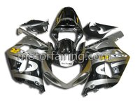 bodywork fairings GSX R750 race fairing/abs fairing for suzuki gsxr600 750 2001-2003 black/silver