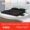 NEW Fashionabel design furniture bedroom sets round bed with smalle tables (6804)