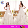 W1206 Classic Designer Off Shoulder Sweetheart Appliques Country Wedding Dresses