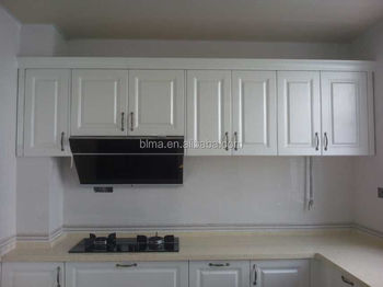 Vinyl wrap MDF door with shape standard size kitchen cabinet
