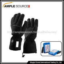 Windproof gloves winter battery ski heated gloves