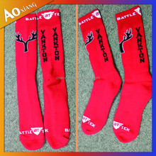 Top sale School club Sock custom stripe design cheaper promotion boy running socks