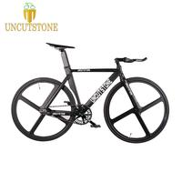 Fixed Gear Bike 53cm 55cm 58cm DIY 700C Fixie frame Aluminum alloy Bike Track Bicycle Magnesium Alloy wheel OEM Bicycle