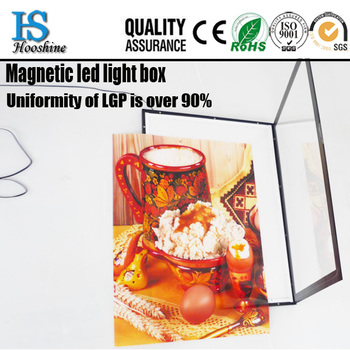 Led acrylic picture frames magnetic light box