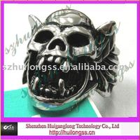 fashion Halloween mask ring skulls ring for man hiphop jewelry