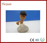 custom plastic 3d football player figure toy,promotional 3d plastic football player toy figurine