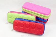 HOT SELLING Colorful Double Zipper EVA Pencil Case for school kits