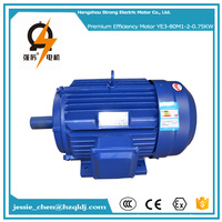 0.75kw 1hp ac 220v 50hz IP54 squirrel cage 3 phase induction electric motor