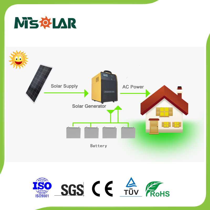 2014 new hot sale solar generator with the lithium-ion battery high quality 500W