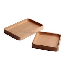 wholesale hotel wooden serving tray barware beech wood serving trays
