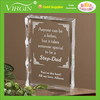 Handmade laser etched crystal glass paperweight with customized bless sayings