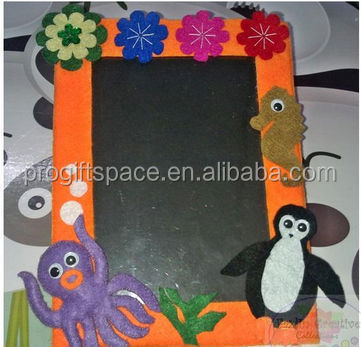 hot sale high quality new products special home decorative handmade felt folding paper photo frame made in China