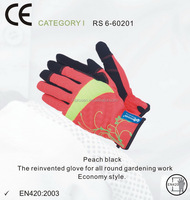RS SAFETY household gardening reinforced premium nubuck leather gloves women