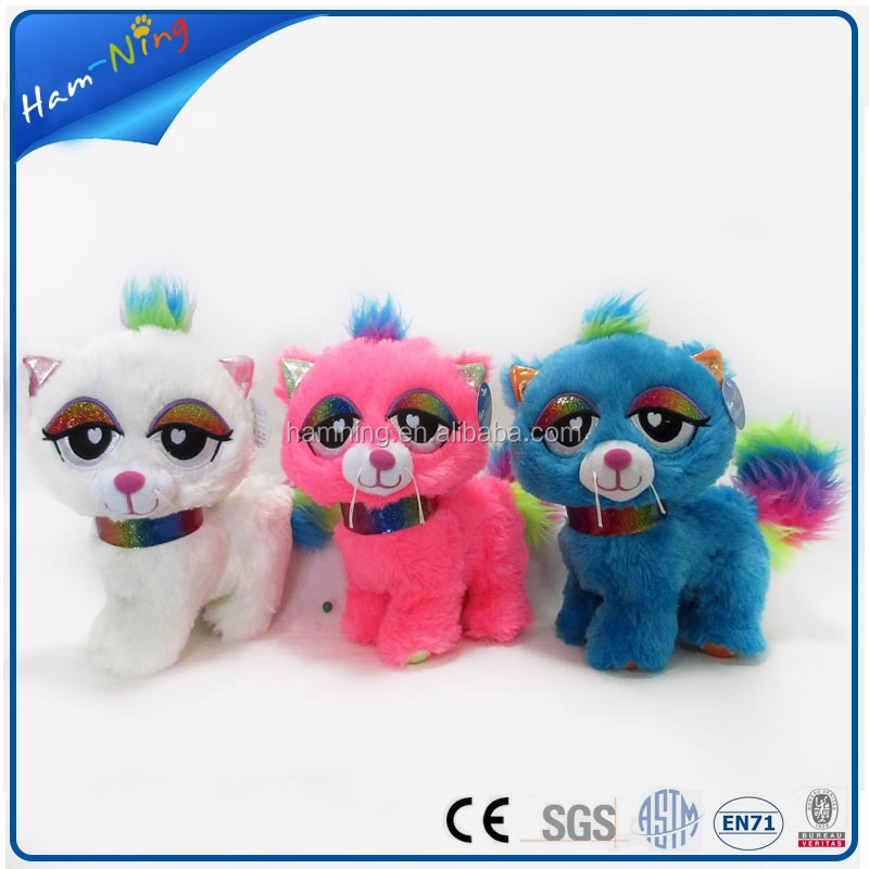 26cm nanjing manufacturer pretty standing soft cat toy