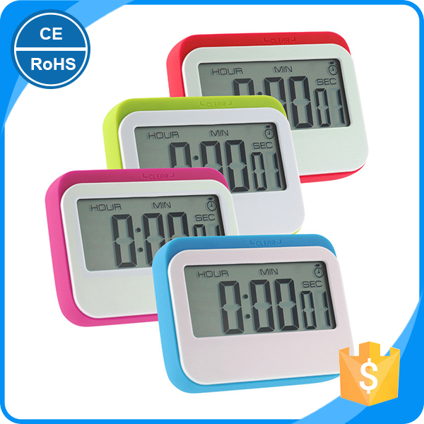 Digital Count Down Up Electronic Kitchen Timer with 24 Hours Time Large LCD Screen Digital Timer Digital Kitchen Timer for Gift
