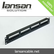 Factory price 24 port cat6 Patch Panel, krone IDC Rack Mount cat6 patch panel for rj45 network solution