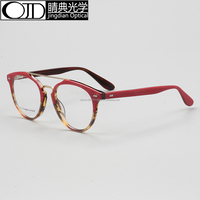Acetate fashion eyewear stock glasses frame K9214 double beam frame new design glasses frame in 2017