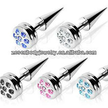 Cheap wholesale charming fake ear taper with crystal