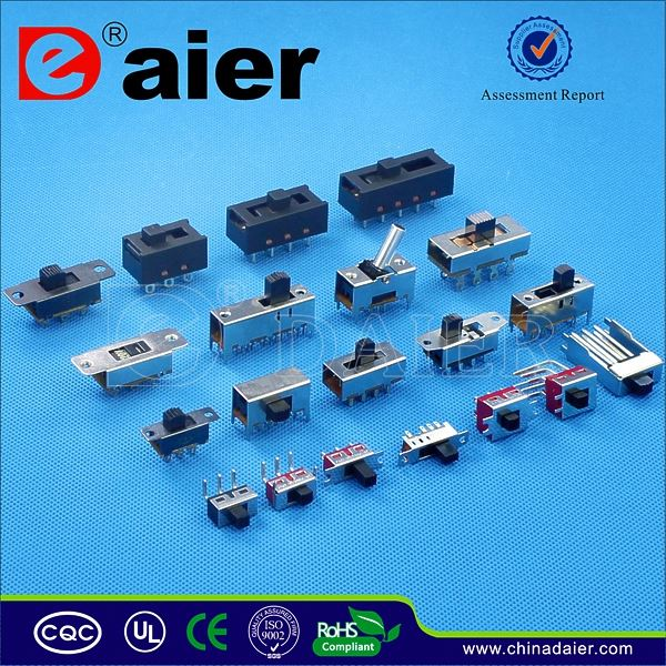 Daier 4P2T horizontal slide switch