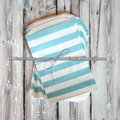 BLUE STRIPED FAVOR BAGS - BLUE - MEDIUM crafty colorful BIG STRIPE paper bags party favour giveaway striped treat bags