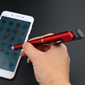 4 in 1 plastic pen with stylus, phone holder, two-dimension code