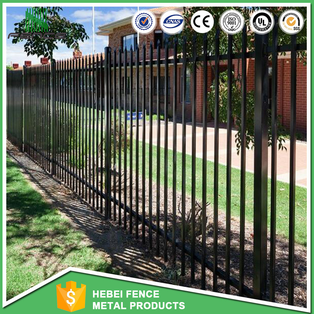 Hot sale one point top tubular steel wrought iron fence palisade fence prices