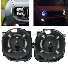 For 2015-2017 Jeep Renegade HID LED Headlight with DRL AND Bi-xenon Projector