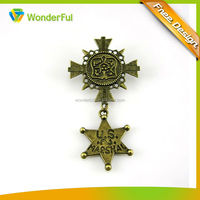 2014 Wholesales High Quality Star Pin Custom Souvenir Military Shield Pin Badge