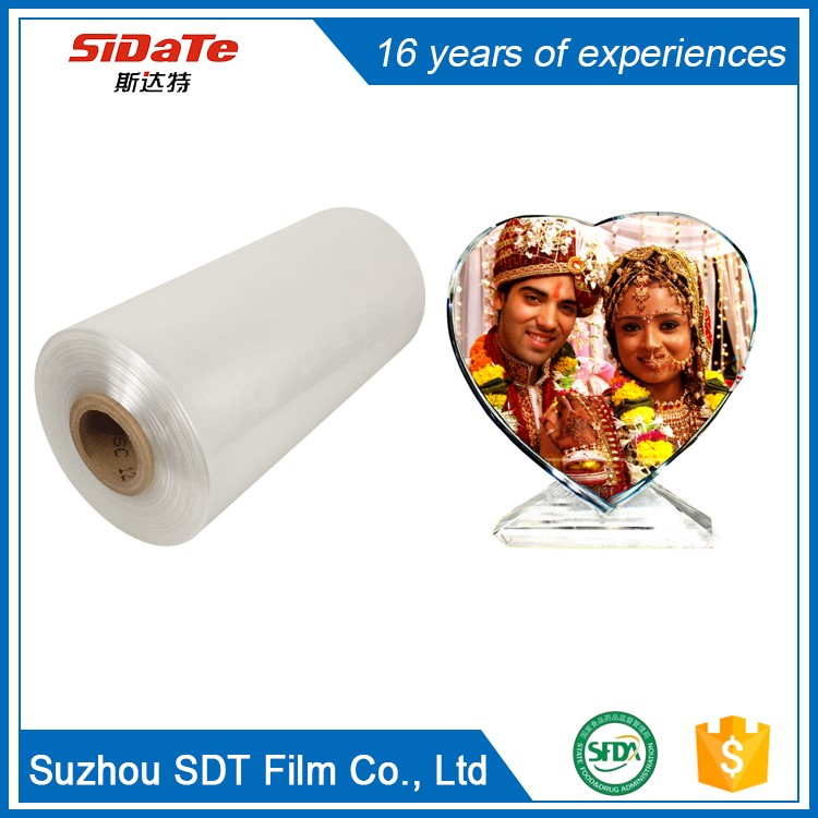 Bottom Price Water Proof Tear Resistant Printable Transparent crystal film