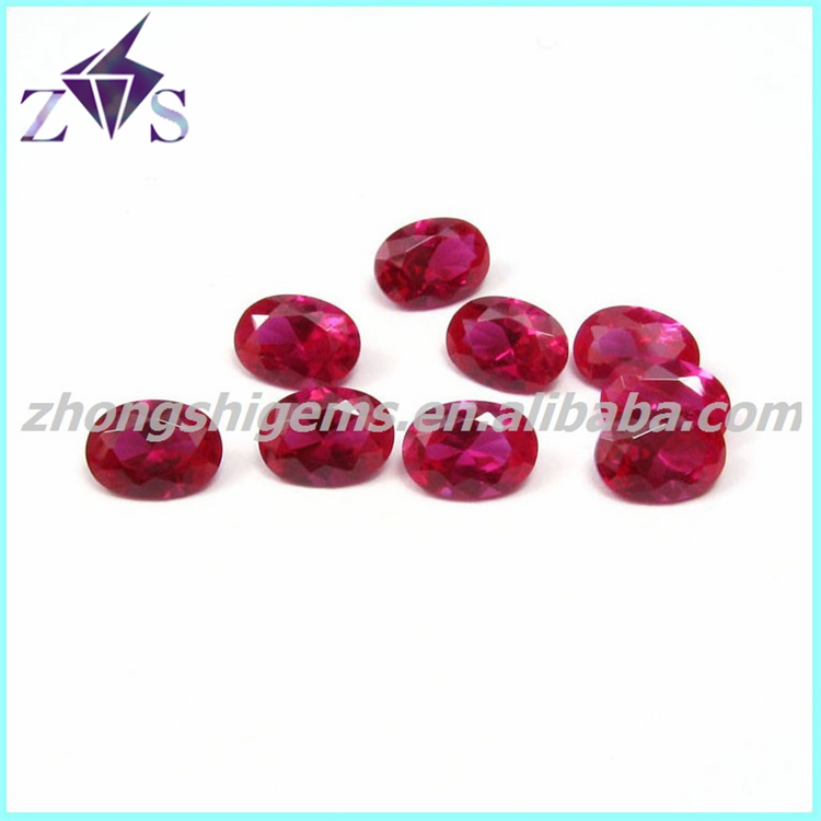 Oval Shape 7# Red Ruby Stone Price