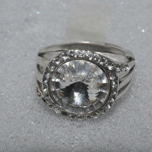 high quality hot sale a lot ring with big white stone.
