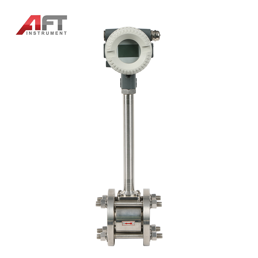 220v factory price Flange Clamped Gas Vortex Flow meter