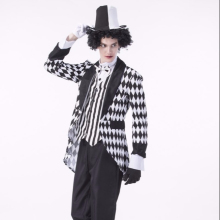 Halloween Circus Adult Male Cosplay King Costume Circus Clown Magician Costume